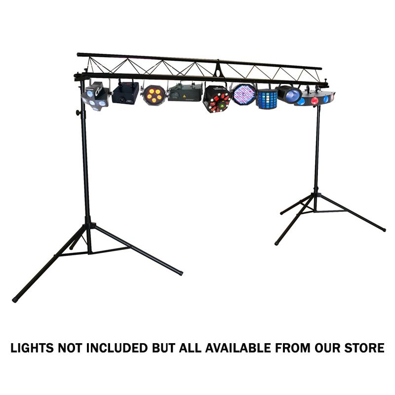 QTX 3m Professional Tri Truss DJ Disco Band Lighting Stand System Easy Assemble