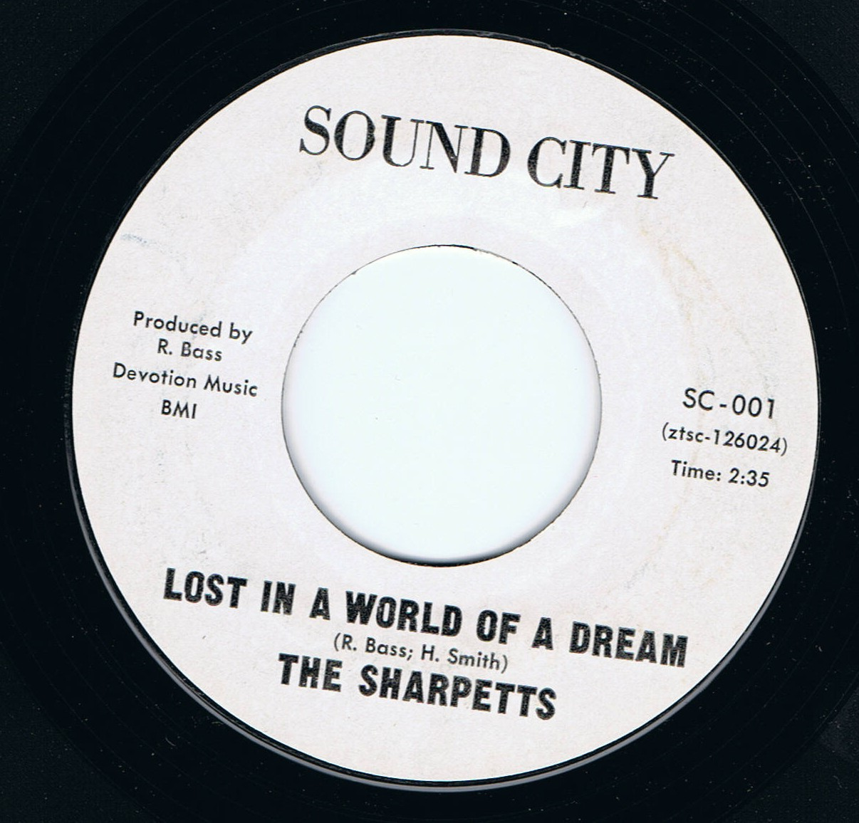 The Sharpetts Lost In A World Of A Dream Sound City 2nd MINT