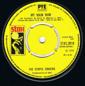 The Staple Singers My Main Man Stax 1st Issue